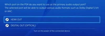 Primary Output Port PS4